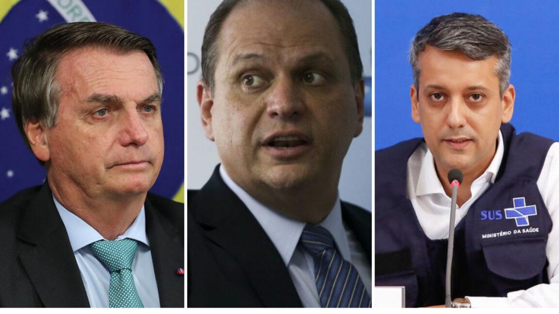 Presidente Jair Bolsonaro (Foto: Foto: Marcos Correa); Ricardo Barros, ex- ministro da Saúde de Michel Temer. (Foto: Marcelo Camargo/Agência Brasil) Diretor de Logística da pasta, Roberto Ferreira Dias, é exonerado (Foto: Anderson Riedel/PR)